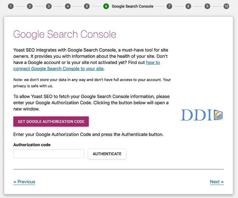 Cấu hình Google Search Console