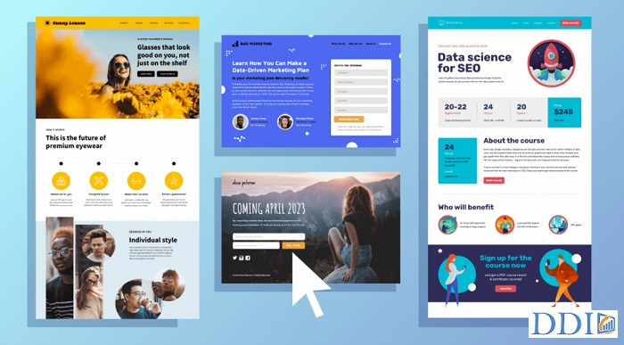 Template landing page có sẵn trong Infusionsoft