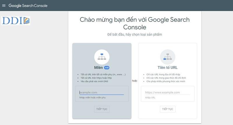 Đăng nhập vào Google Search Console