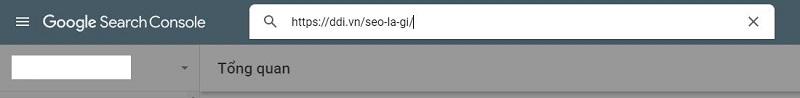 Nhập URL muốn khai báo vào hộp thoại và nhấn Enter