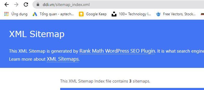 Ví dụ: ddi.vn/sitemap.xml sẽ được điều hướng sang ddi.vn/sitemap_index.xml